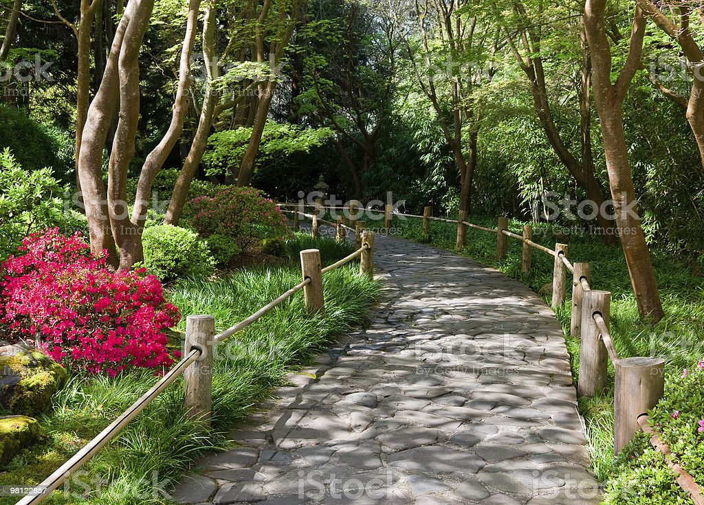 Stone walkway royalty-free stock photo