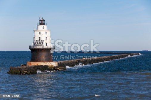 Harbor Refuge Lighthouse off the coast of Lewes, Delaware.