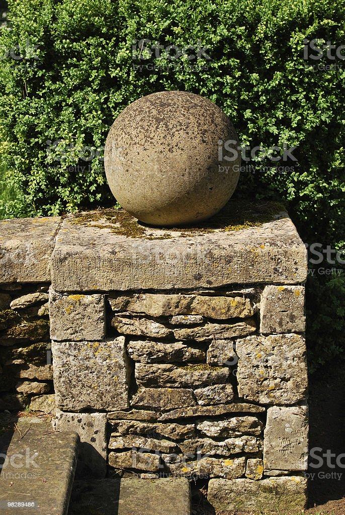 Muro di pietra e ambito foto stock royalty-free