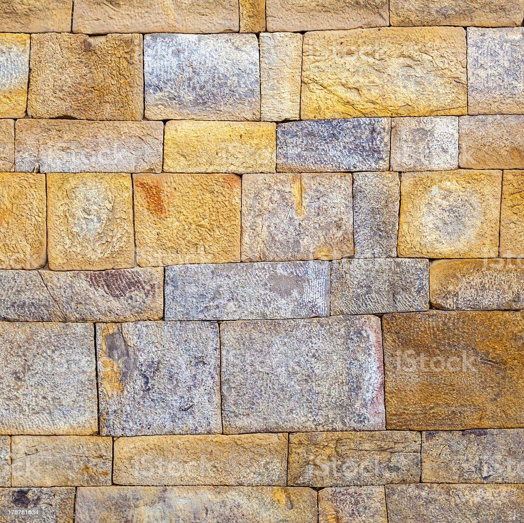 stone wall at Qutub Minar, Delhi India. royalty-free stock photo