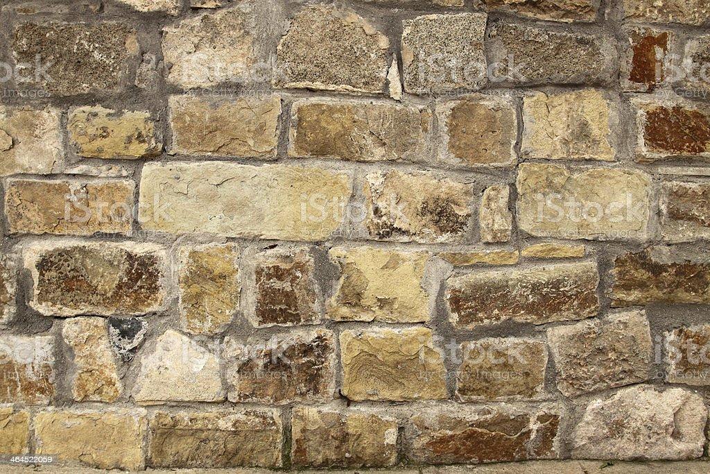 Stone wall background horizontal royalty-free stock photo