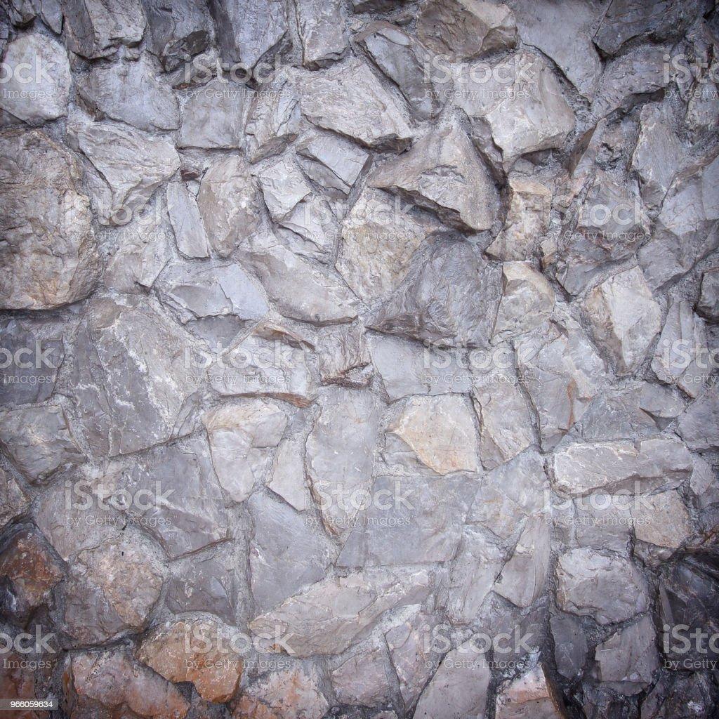 stenen muur achtergrond of textuur - Royalty-free Antiek - Ouderwets Stockfoto