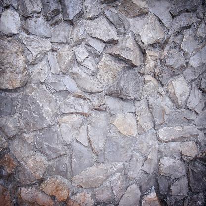 Stenen Muur Achtergrond Of Textuur Stockfoto en meer beelden van Antiek - Ouderwets