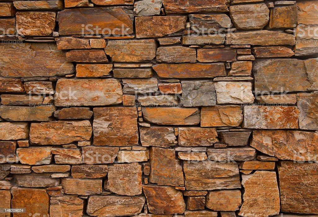 Stone wall, central Otago, New Zealand stock photo
