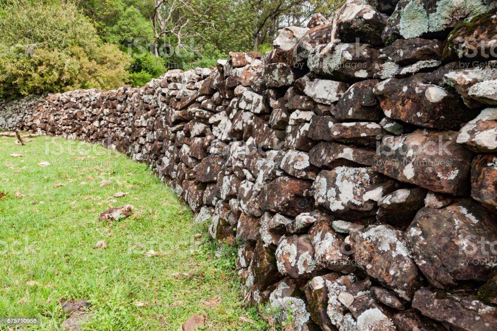Stone Wall Farm Brazil royalty-free stock photo