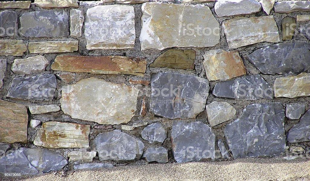 Steinmauer in Griechenland Lizenzfreies stock-foto