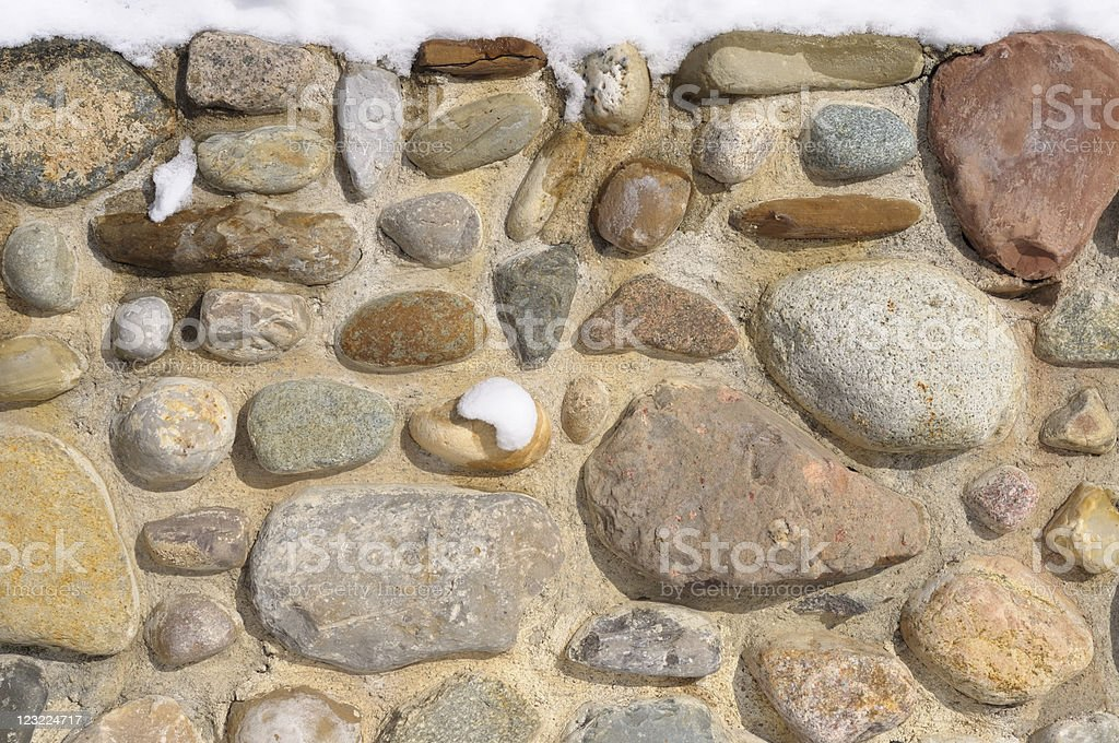 Stone Wall in Winter royalty-free stock photo