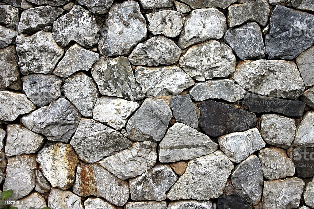 Stone wall of background. royalty-free stock photo