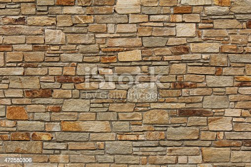 Stone wall from Bretagne, France