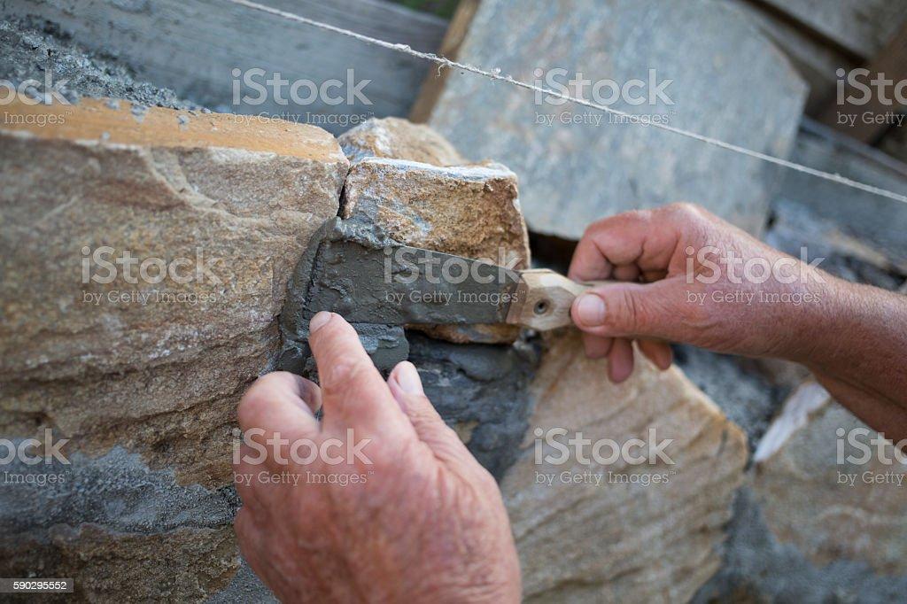 Stone wall royaltyfri bildbanksbilder