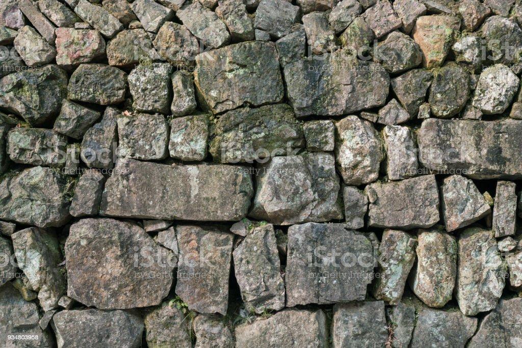 스톤 텍스처와 배경, 벽 가까이 - 로열티 프리 0명 스톡 사진