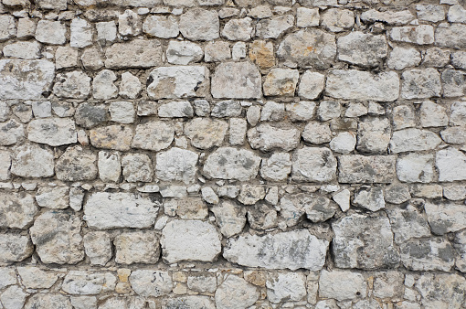stone wall texture of fortress / castle