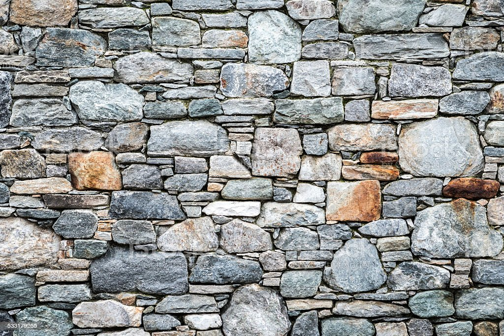 Stone wall texture stock photo