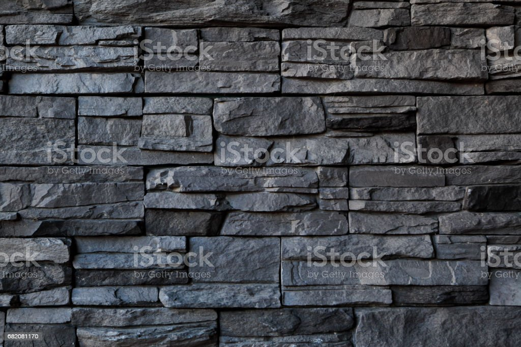 Stone Wall Textured Backgrounds Rough Gray stock photo