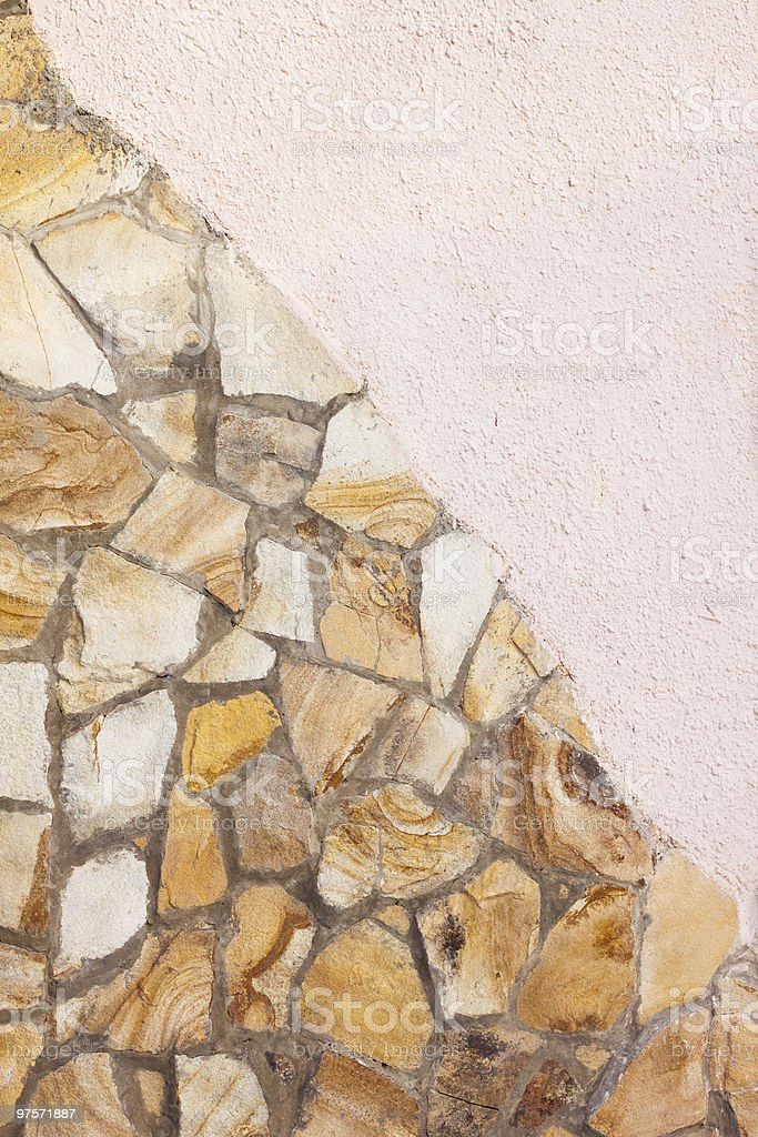 Stone wall with a plaster royalty-free stock photo