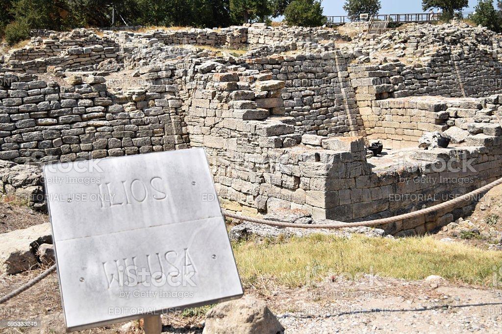 Stone walls, Troy - Ilios stock photo