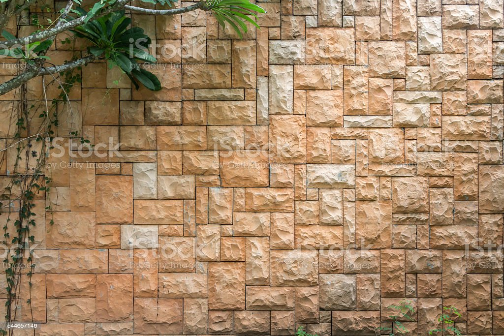 Stone walls with for background stock photo
