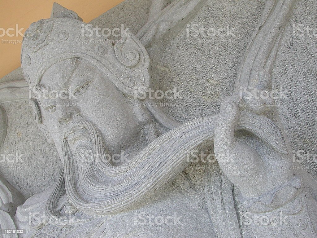 Stone warrior detail royalty-free stock photo