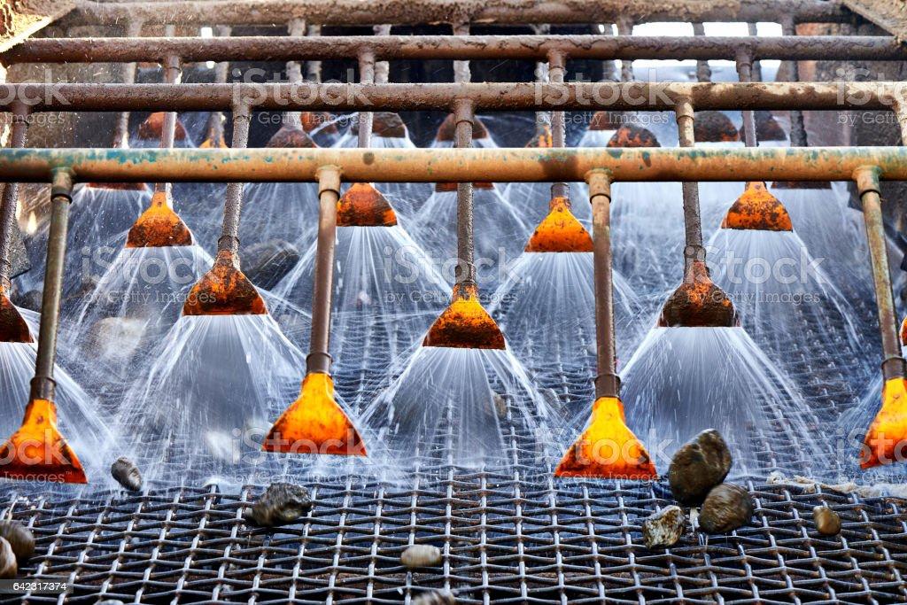 Stone washing stock photo