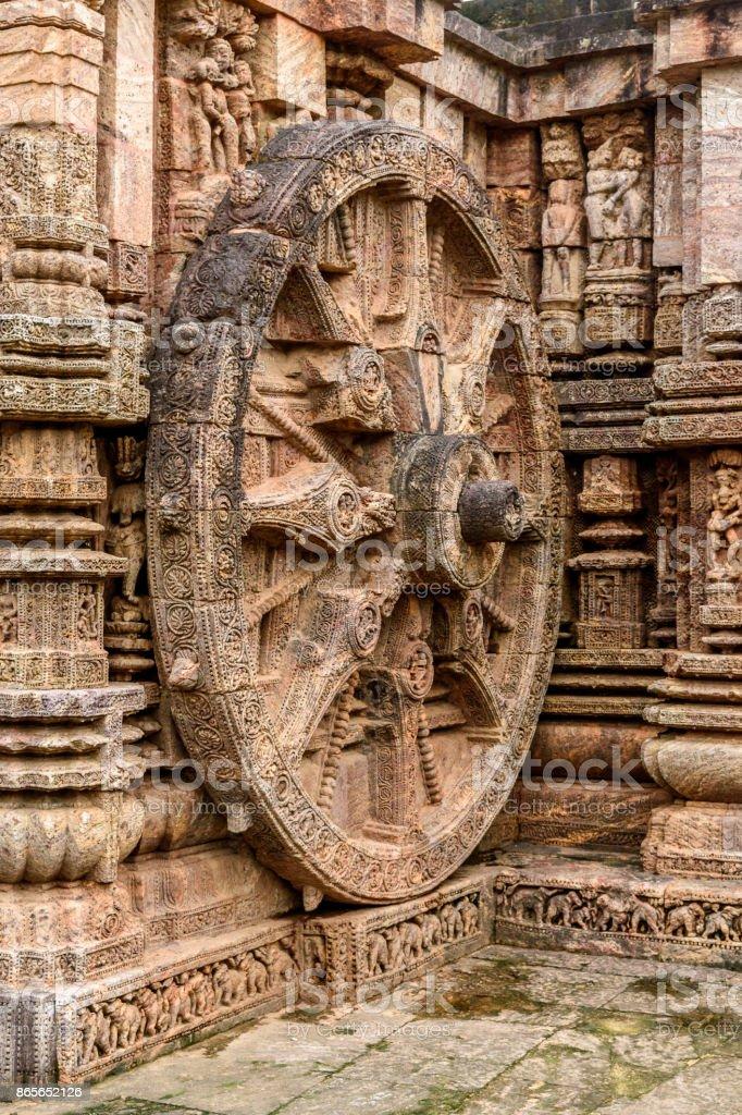 Stone wheel stock photo