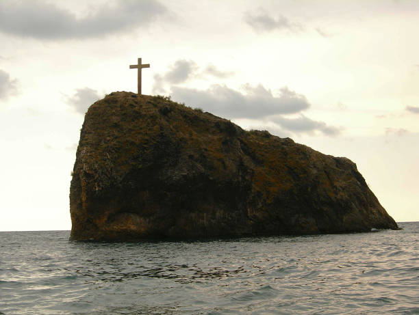 Stone with cross – Foto