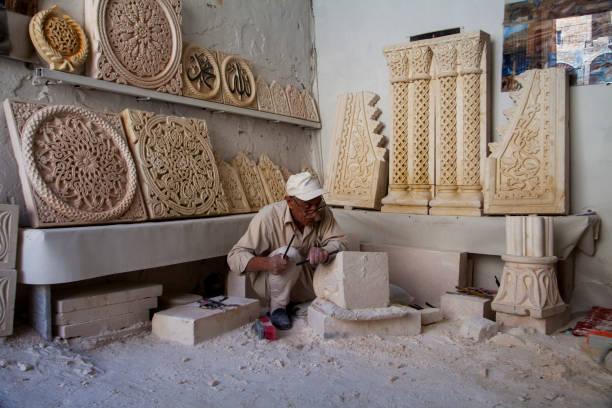 Stone work in Mardin ,Turkey stock photo