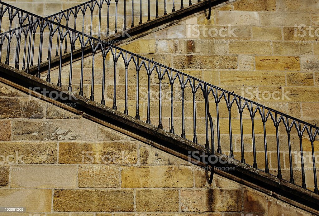 Stone Zigzag Stairway Stock Photo - Download Image Now - iStock