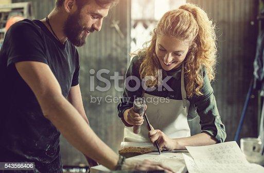 Stonecutter at his workshop, Ljubljana, Slovenia