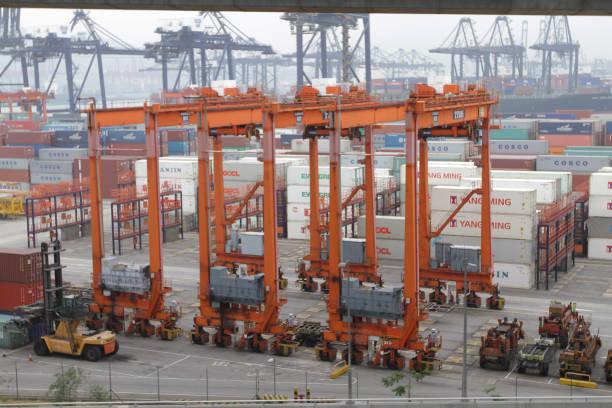 石匠橋和葵青集裝箱碼頭圖像檔