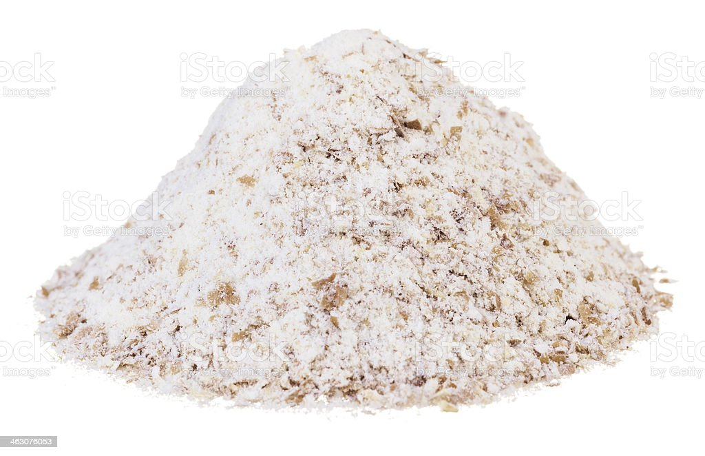 Stoneground wholemeal flour stock photo