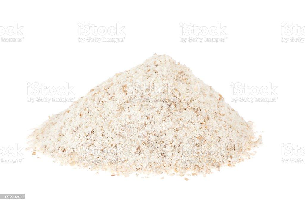 Stoneground wholewheat flour stock photo