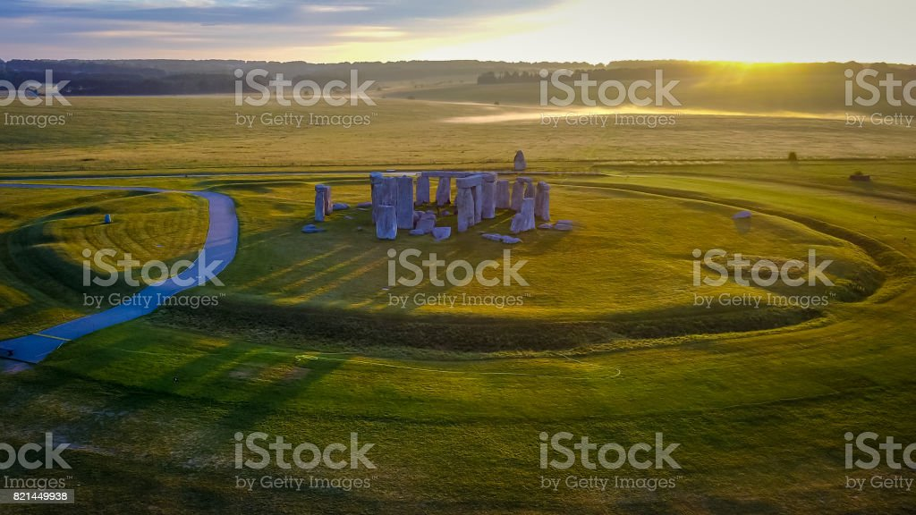 Stonehenge at Sunrise stock photo