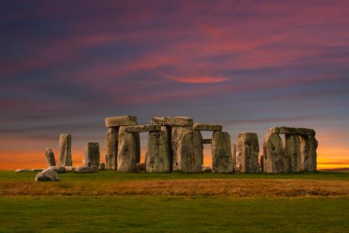 Photography of Stonehenge at the sunset