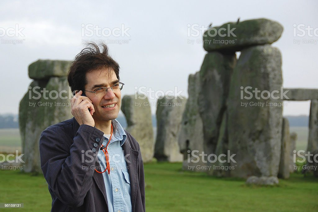 Stonehenge Audio Tour royalty-free stock photo