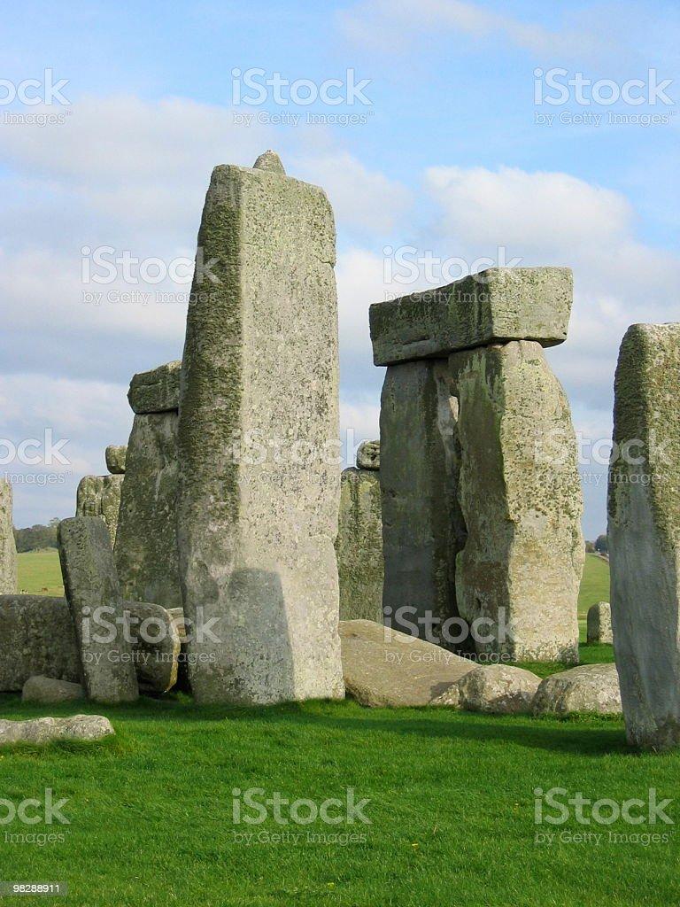 Stonehenge dettaglio, la tecnica & Tenon, pomeriggio foto stock royalty-free