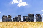 Landscape of Stonehenge England United Kingdom, UNESCO World heritage Site.