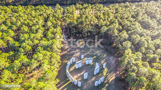 StoneHenge found in Bamahenge Aerial View , Alabama USA
