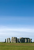 Stonehenge, England. United Kingdom. with blue cloudy sky.