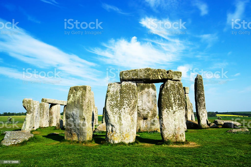 Stonehenge in Wiltshire in England stock photo