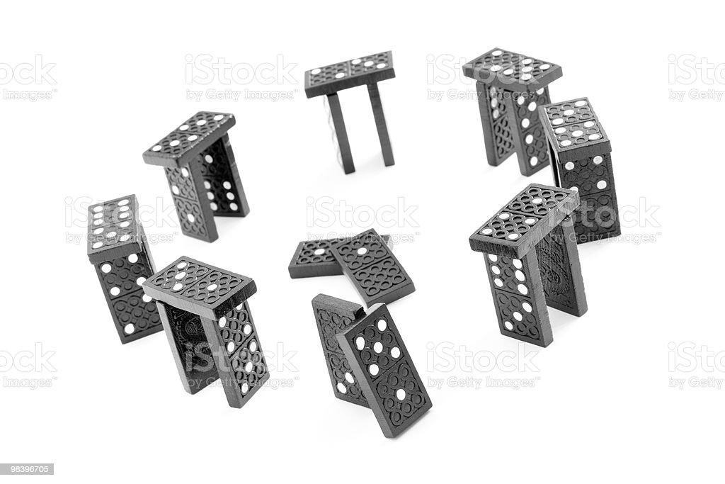 스톤헨지 만든 domino 블록 royalty-free 스톡 사진