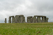 Stonehenge on a cloudy British weather