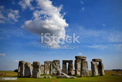 The ancient Stonehenge circle in Wiltshire, UK