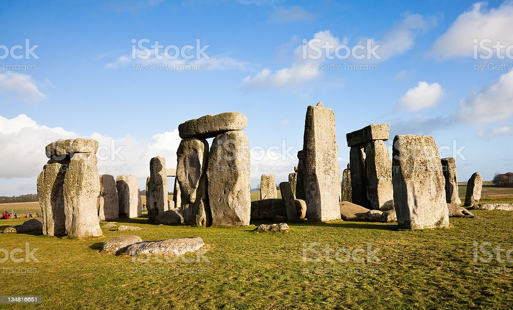 Stonehenge The most famous stone circle in the world. Stonehenge is a UNESCO world heritage site and a prehistoric landmark. Ancient Stock Photo