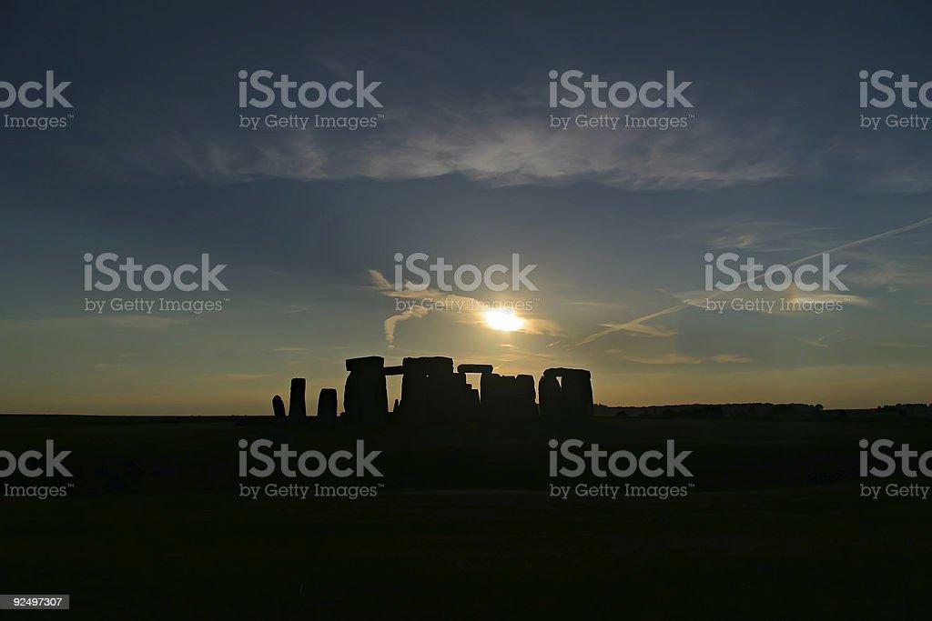 Stonehenge Silhouette royalty-free stock photo