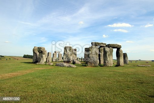 The prehistoric monument, Stonehenge, located in Wiltshire, UK, captured during summer, 2015.