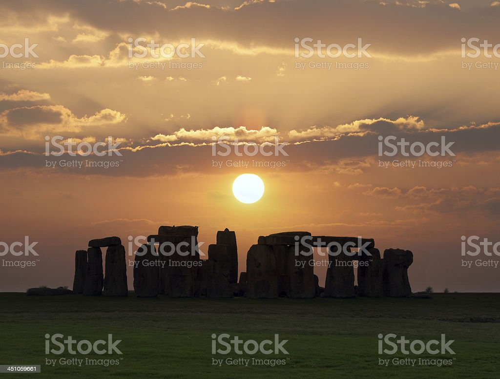 Stonehenge, UNESCO World Heritage Site. stok fotoğrafı