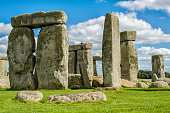 The world famous landmark Stonehenge on a summer day.