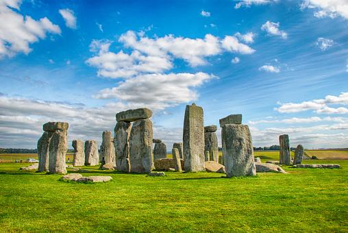 Stonehenge with beautiful sky in United Kingdom