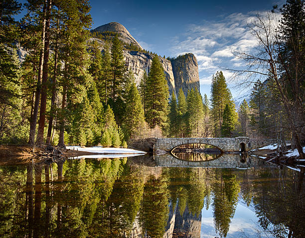 Stoneman Bridge in Yosemite National Park stock photo