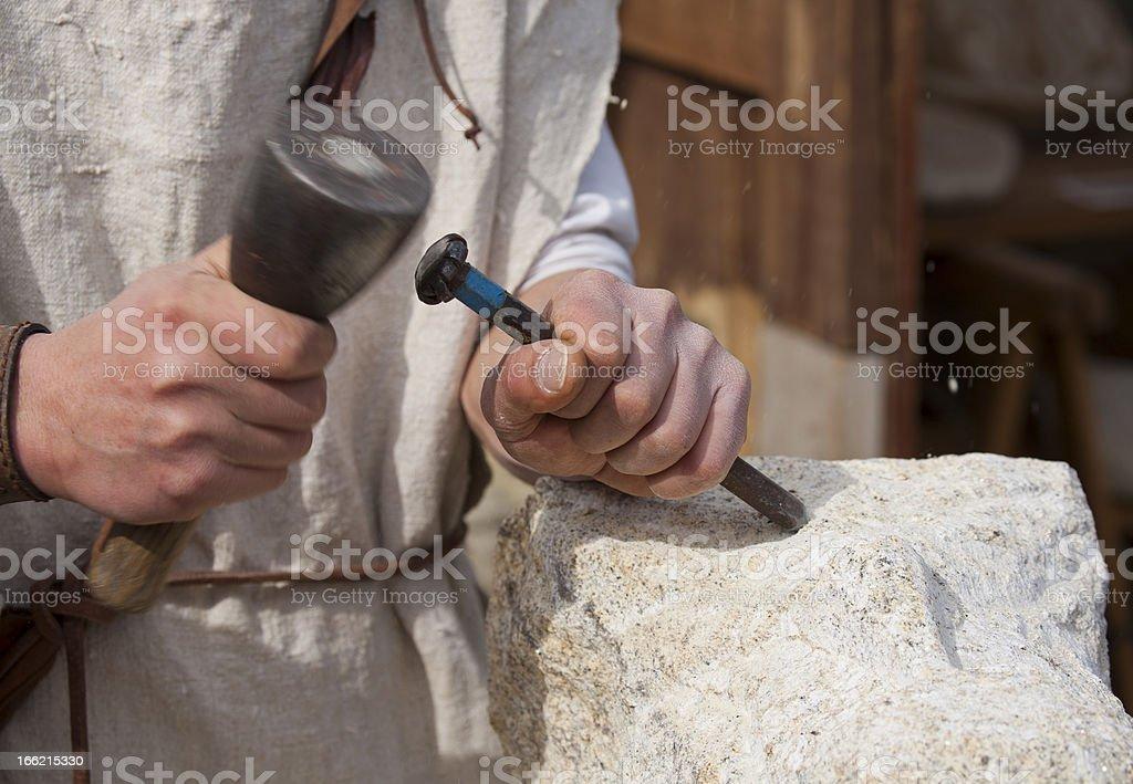 Stonemason stock photo